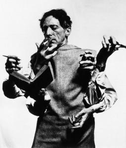 Жан Кокто (1948 - Фотография Philippe Halsman)